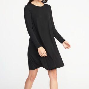 Long Sleeve Jersey knit black dress